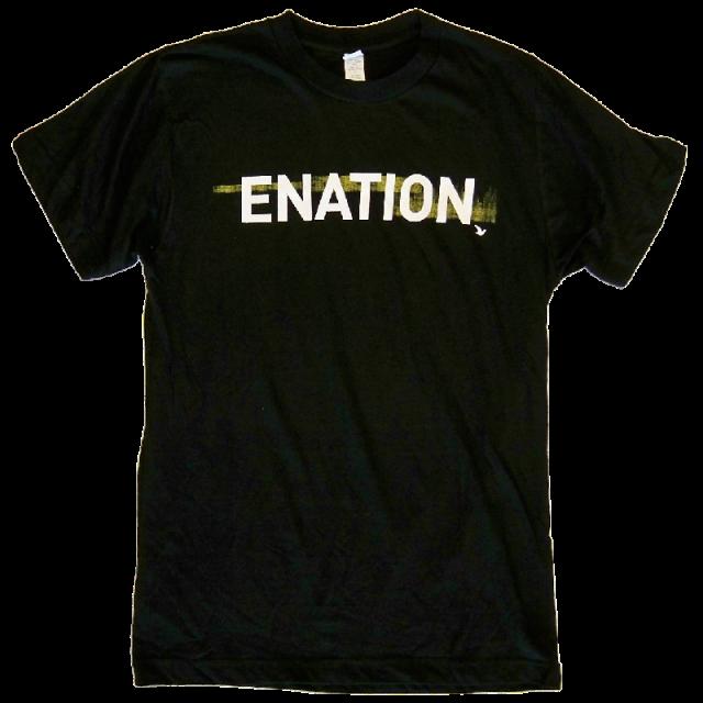 Jonathan Jackson + Enation Black Logo Tee